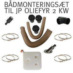 BLACK FRIDAY JP Oliefyr (luft) 2 KW (Pakkesæt) inkl. alle fittings, monteringsklar