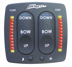 Rockerswitch w / trim indicator, Bennett